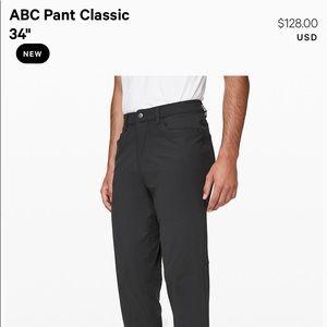 "ABC Pant Classic 34"" Obsidian Size 36 waist"